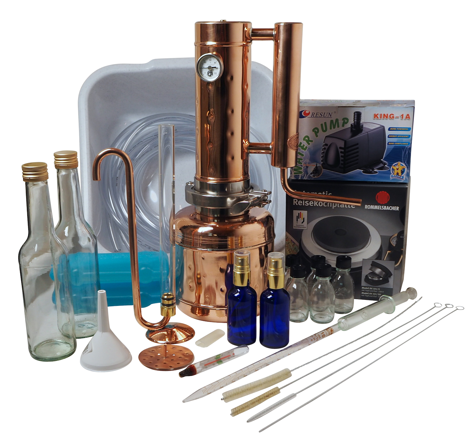 "CopperGarden®  "" Easy Moonshine"" distilling apparatus in a set 2 L XL"