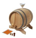 5 L Barrel with wooden stand in a set, European oak wood