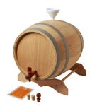 10 L Barrel with wooden stand in a set, European oak wood