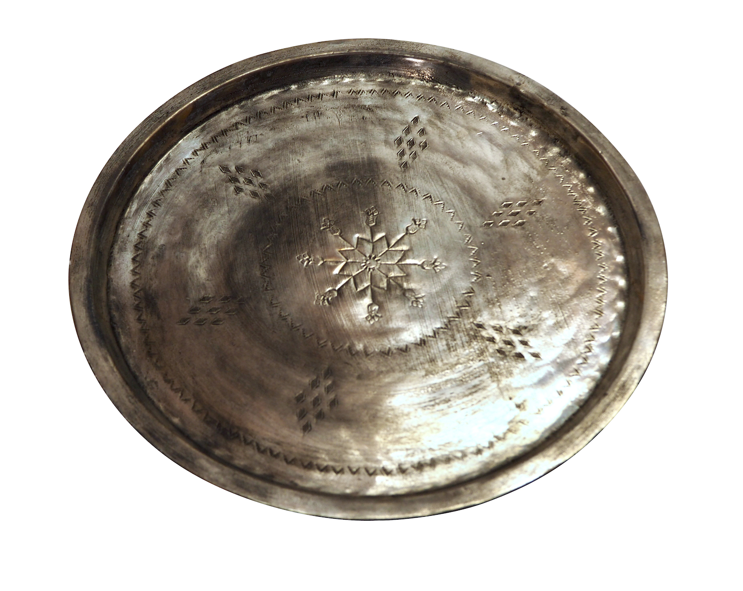 Antique Copper Serving Tray XL = 40 - 45 cm diameter