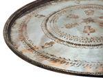 Plateau antique en cuivre taille XL = 61 - 72 cm de diamètre
