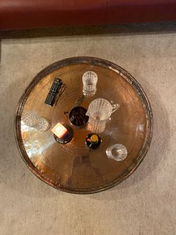 Antique Copper Serving Tray XXL = 75 - 80 cm diameter