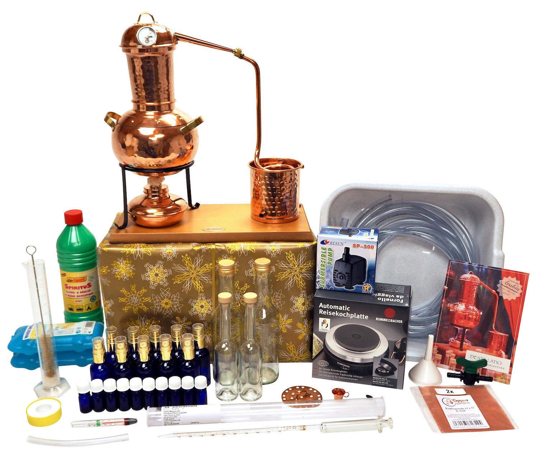 """WEIHNACHTSANGEBOT: """"CopperGarden®"""" Destillieranlage ARABIA 2 Liter Tischdestille - Super XXL Sorgenfrei Paket"""