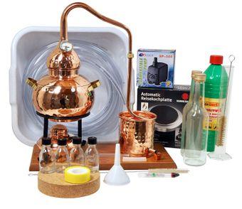 """""""CopperGarden®"""" Destillieranlage ALEMBIK 2 Liter Tischdestille im Sorgenfrei Paket mit allem Zubehör"""