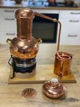 """GEBRAUCHT: """"CopperGarden® """" 2 Liter Destille Arabia mit Aromasieb und Kochplatte"""