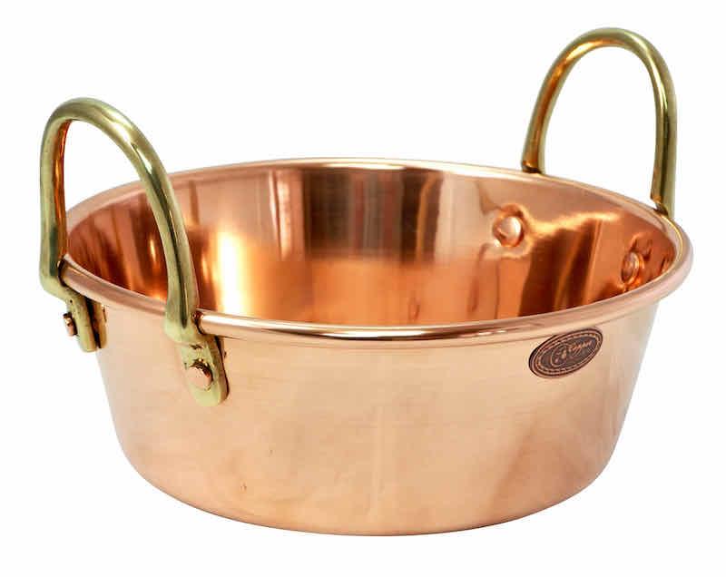 "/& Marmeladentopf ❀ Größe L = 38cm /""CopperGarden®/"" Soßen 10L ❀ Kupfer-Rührtopf"