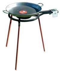 """Set """"Paella"""" : Brûleur à gaz (30 cm), support et poêle à paella"""