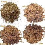 4 x 40 g copeaux de bois de chêne -  naturel, légère, moyenne et forte torréfactions