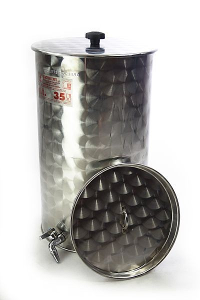Ferrari  stainless steel storage cask 35 liters with floating lid