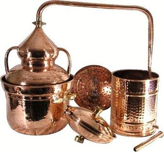 """CopperGarden®"" Pot Still 30L with water seal & fittings"