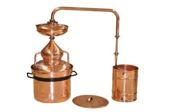 """CopperGarden®"" Pot Still 50L with water seal & fittings"