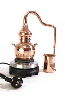 """""""CopperGarden®"""" Alambicco tradizionale 0,5 litri, con fornello elettrico"""
