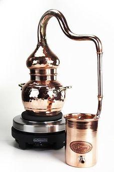 """""""CopperGarden"""" Destille ALEMBIK 0,5 Liter mit elektrischer Kochplatte"""