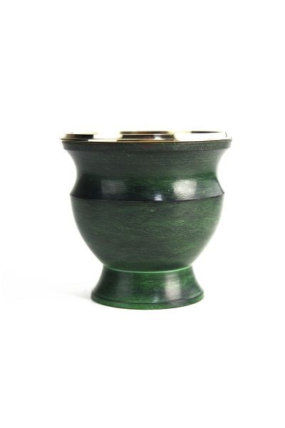 Berk  Green Enamel - Brass vessel with net insert
