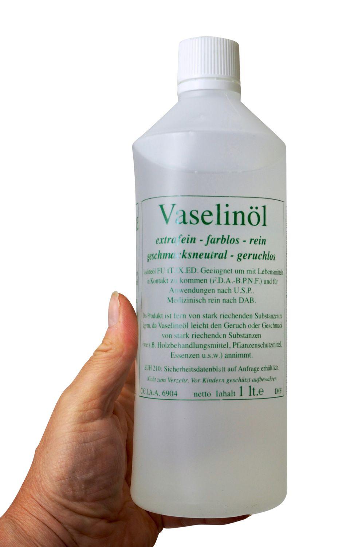 Vaselineöl - 1 Liter - medizinisch rein und lebensmittelecht