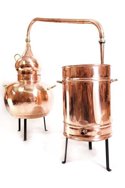 CopperGarden  Destille Alembik 150L, genietet