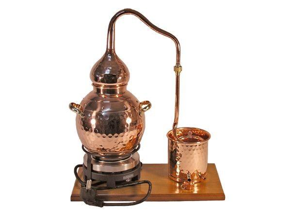 CopperGarden  Destillieranlage Alembik 2 Liter mit elektrischer Kochplatte