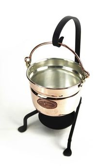 """CopperGarden®""  hanging copper fondue pot, 11 cm"