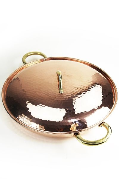 CopperGarden®  XXL Copper Pan 36cm with Lid, tin-lined interior