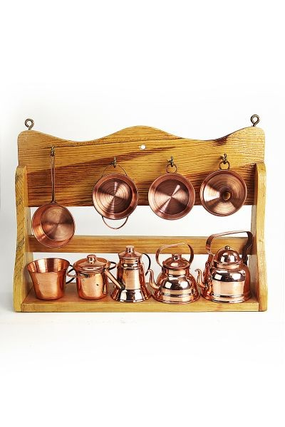 CopperGarden®  Copper Miniature Kitchen shelf