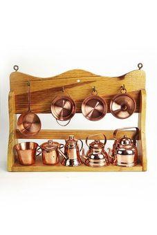 """""""CopperGarden®"""" Kupfer Miniaturen Küche"""