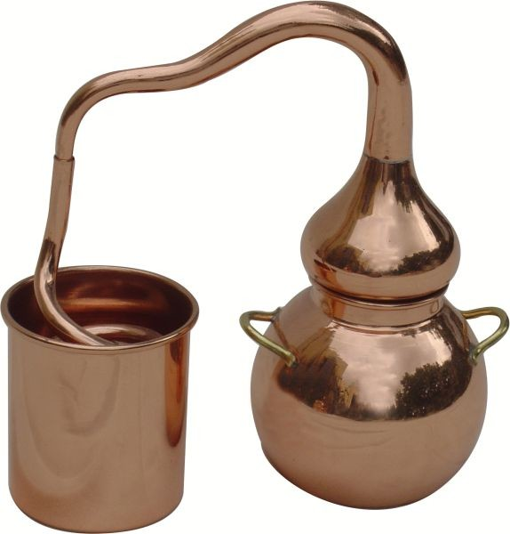 CopperGarden®  décor still Alembic 0,4L, polished