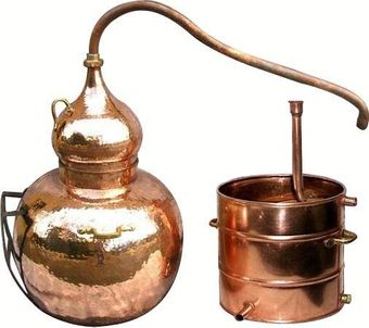 """CopperGarden®"" Appareil de distillation Alambic 500 L soudé"