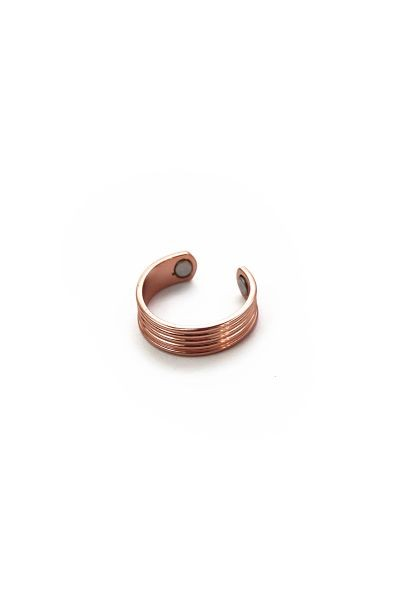Magnetic Copper Ring with line pattern