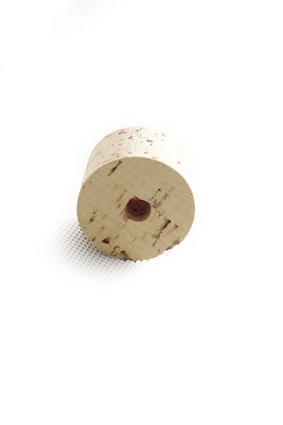 Carboy cork 38/42 mm with bored hole