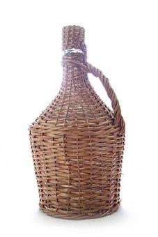 Glasballon im Weidenkorb - 5 Liter Demijohn mit Korken