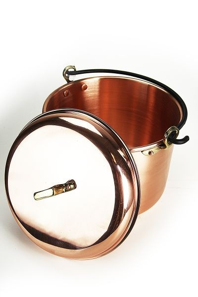 CopperGarden®  copper pot, 12 liters, smooth with handle