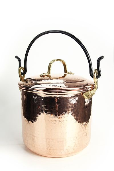 "CopperGarden®"" copper pot 5L, smooth with handle"