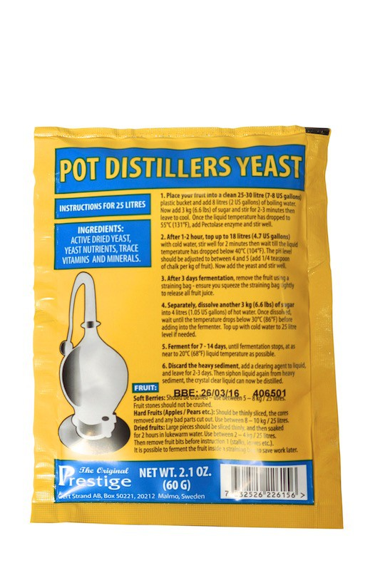 Prestige  Pot Distillers Turbo Yeast