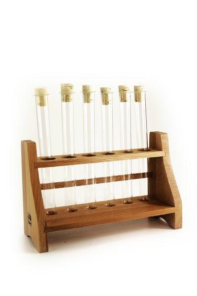 Kit : 6 tubes à essai avec bouchons et support