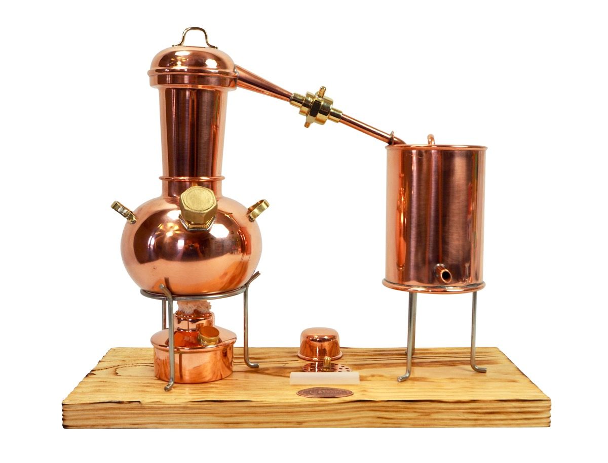 CopperGarden®  Dispositif de distillation Arabia suprême 0,5 L avec tamis aromatique