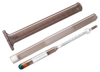 """Set: """"Al-Ambik®"""" alcolometro con cilindro graduato 100ml per la misurazione della percentuale alcolica"""