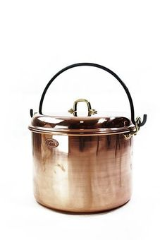 "Pentola in rame liscia con manici ""CopperGarden®""  18 litri"