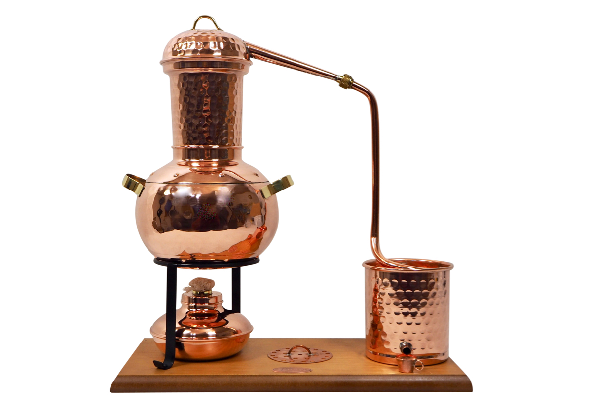 Arabia 2L table-top still, with burner and steam sieve -  CopperGarden®