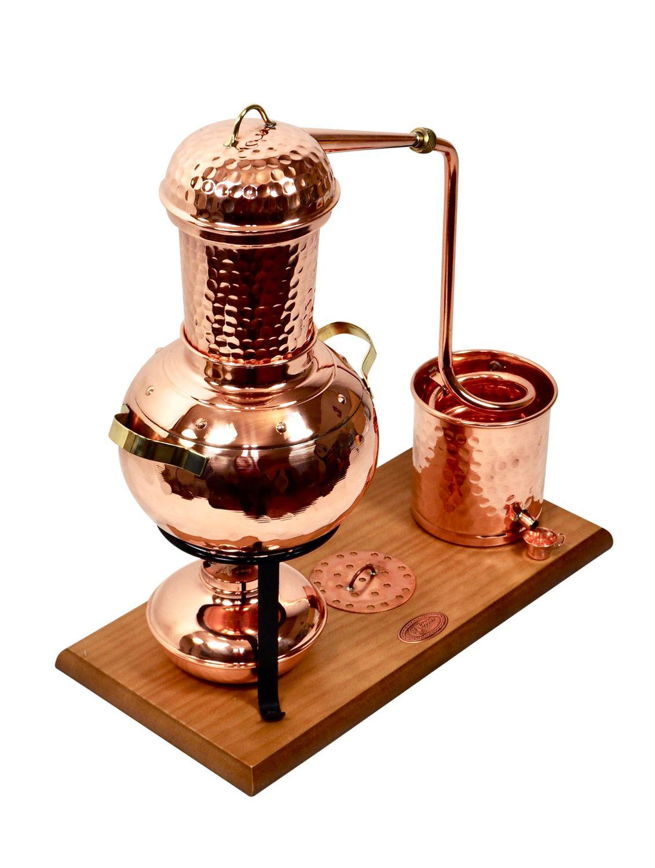 CopperGarden®  Tischdestille Arabia 2 Liter ❀ mit Spiritusbrenner & Aromasieb ❀ Modell 2018