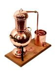 "Arabia 2L table-top still, with burner and steam sieve - ""CopperGarden®"""