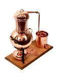 """Alambique de mesa de 2 litros Arabia de la marca """"CopperGarden®"""" con infiernillo de alcohol y criba para aromas"""