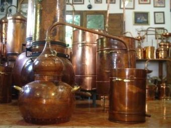 """CopperGarden®"" Décor Still Alembic 100L, antique finish"
