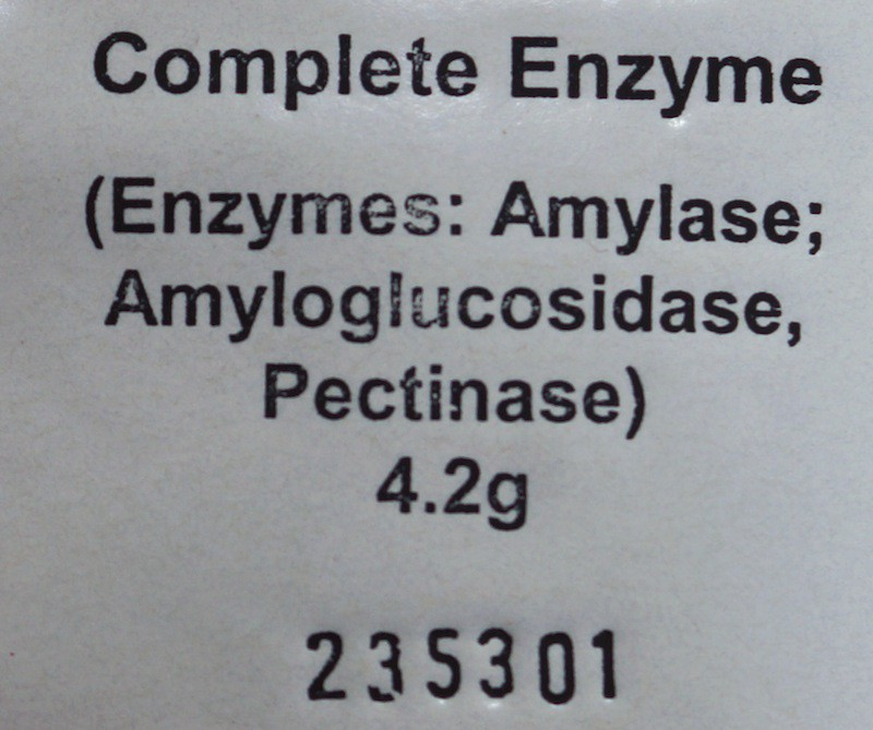Enzymes 4,2 g for liquefaction and saccharification of grain and potato mash