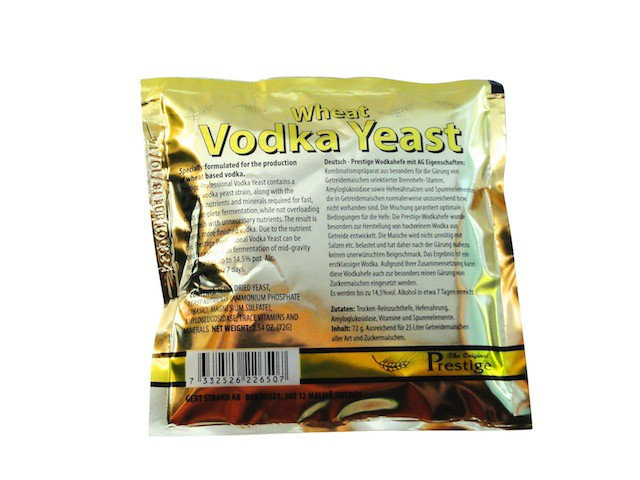 Prestige  Turbo Yeast  Vodka