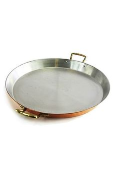 """CopperGarden®"" paella pan (35 cm) copper / stainless steel"
