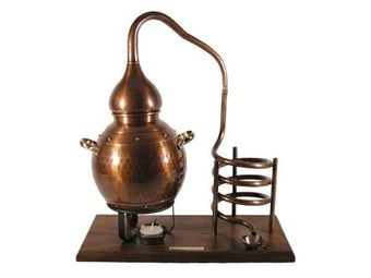 """CopperGarden®"" bottle holder ""Alembik 2,5L"", oxidized"