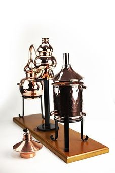 "Dispositif de distillation charentais 0,5 L - ""CopperGarden"""