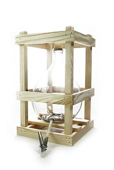 5 Litre crated glass demijohn with accessories