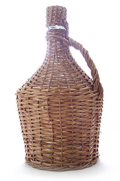 Arauner  Wicker cased glass demijohn /carboy (15L) with cork stopper