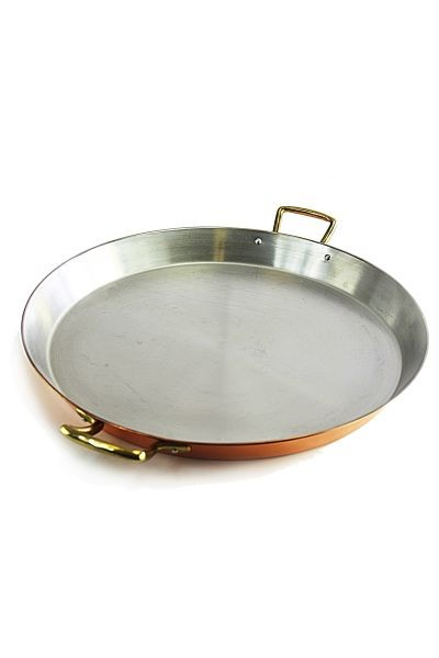 CopperGarden®  Paellapfanne 40cm,  Kupferpfanne mit Edelstahl